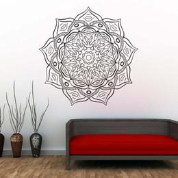 $enCountryForm.capitalKeyWord Australia - 1 Pcs Mandala Flower Vinyl Art Wall Decals Indian Religious Pattern Wall Sticker Self Adhesive Wallpaper For Living Room Home Decor