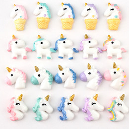 Cell Phone Jewelry Charms Australia - Multistyle Cute Cartton Resin Unicorn Charms Diy Hair Accessories DIY Cell Phone Sticker Jewelry Accessories Wholesale