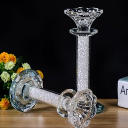 $enCountryForm.capitalKeyWord Australia - New Upscale European Crystal Candle Holder Lighting Table Decoration Wedding Room Romantic Wedding Supplies Crystal Candlestick