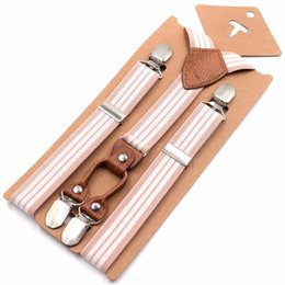 $enCountryForm.capitalKeyWord Australia - 1'' width Kids Suspenders Leather Children Straps Hosentrager Elastisch 4 Strong Clips Belt Y-back slinger giarrettiere EBD6160