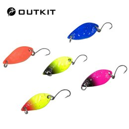 small metal fishing lures Australia - 5pcs lot 5g 3cm Fishing Tackle Bait Fishing Metal Spoon Lure Bait For Trout Bass Spoons Small Hard Sequins Spinner Spoon