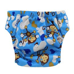 Infants Diaper Panties Australia - Baby Potty Training Pants Bamboo Cloth Diaper Couche Lavable Nappy Changing Washable Infant Panties Character Diaper Cover