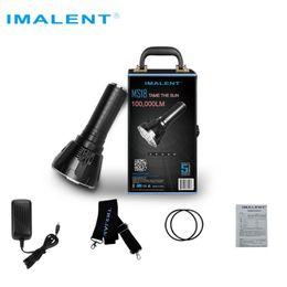Ingrosso Torcia a LED IMALENT MS18 CREE XHP70 100000 LM Torcia impermeabile con batteria + display OLED Torcia a LED intelligente da 10000 lumen