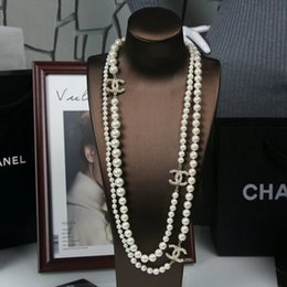 Chinese  Brand Luxury Designer New Pearl Chain Sells Classic Pearl 3C Long Sweater Chain 001 manufacturers
