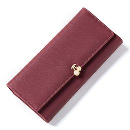 Ladies Wallet Patterns Australia - good quality Fashion Fruit Pattern Women Wallets Pearl Element Leather Long Wallet Female Brand Card Holder Ladies Purse Carteira Hot