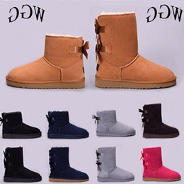 $enCountryForm.capitalKeyWord Australia - Hot New Australia Classic Wgg Women Winter Boots Chestnut Black Grey Pink Designer Womens Snow Boots Ankle Knee Boot Size 5-10 On Sale