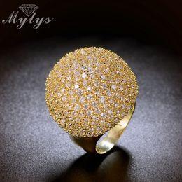 $enCountryForm.capitalKeyWord Australia - Mytys Pave Setting Crystal Luxury Chunky Ring Ball Shape Fashion Gorgeous High Quality Jewelry New Big Rings R1048 R1049 J 190515