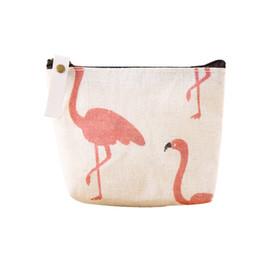 492092ecfef4b Cartoon Baby Flamingo Geldbörse Kinder Leinwand Stoff Kleine Geldbörse  Reißverschluss Geldbörse Tasche Freies DHL 1218