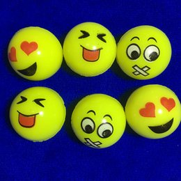 bouncing ball for kids Canada - 32mm bouncing ball, emojis rubber bouncing ball face bouncy ball for kids promotional balls 100pcs  lot Free Shipping
