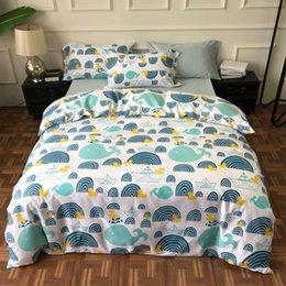 $enCountryForm.capitalKeyWord Australia - bedding set 4pcs egyptian cotton queen king 40s cartoon duvet cover set sheet pillowcase home textile Bedclothes
