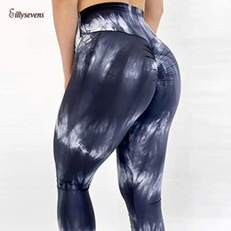 hot sexy yoga workout Canada - tie dyed Fitness Yoga Pants Women Sports Leggings Workout Hot Running Leggings Sexy Push Up Gym Wear Elastic Slim Pants#0528y30