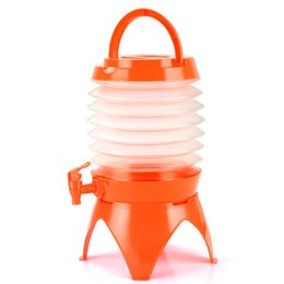 Orange Containers Australia - 5L With Tap Bucket Portable Lightweight Drinking Tank Outdoor Hiking Camping Multifunctional Folding Water Container
