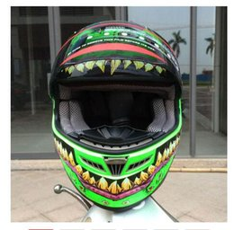 $enCountryForm.capitalKeyWord NZ - Free shipping full face motorcycle helmet with horns motocross green helmet off road professional rally racing helmet