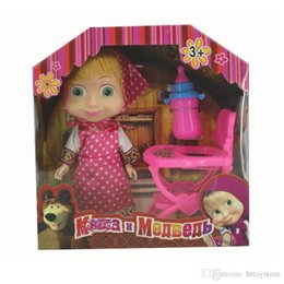 Masha Toys NZ - 3 Styles Cartoon Masha PVC Action Figures Bear Toys Model for Kids Children Birthday Gift with Original Box