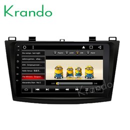 "mazda car dvd gps navigation UK - Krando Android 8.1 10.1"" IPS Big Screen Full touch car navigation system for Mazda 3 2009-2013 video player radio gps BT wifi car dvd"