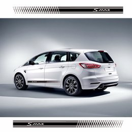 car body sticker accessories NZ - Stylish car body sticker vinyl body decal racing stripe sticker for Ford Smax S-max Car accessories