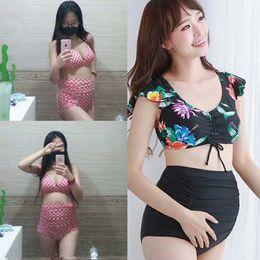 $enCountryForm.capitalKeyWord NZ - New South Korea high waist big chest bikini pregnant women swimsuit belly split fat mm size sexy swimsuit postpartum