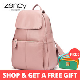 $enCountryForm.capitalKeyWord Australia - Zency 14 Colors 100% Genuine Leather Women Backpack Fashion Ladies Travel Bag Preppy Style Schoolbags For Girls Laptop Knapsack MX190708
