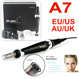 acne derma roller Australia - Newest Ultima A7 Dr.Pen Auto microneedle System Electric Wired dermapen derma roller skin care Acne removal Eyebrow Eyeliner Lip Liner