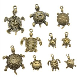$enCountryForm.capitalKeyWord Australia - 300Gram Antique Bronze Color Zinc Alloy Mix Styles Turtle Charms Pendant Jewelry Accessories