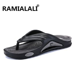 9808d76516a68 Ramialali Mens Flip Flops Summer Men s New Style Eva Soft Shoes Outdoor Beach  Men s Slippers Massage Men Footwear Sandals