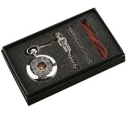 $enCountryForm.capitalKeyWord NZ - YISUYA Hollow Flower Silver Hand-winding Mechanical Pocket Watch Pendant Necklace Hour Mens Womens Gift Set