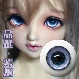 doll toy glasses Australia - wholesale Bjd sd doll with eye boutique glass eyeball imitation resin eye crystal purple