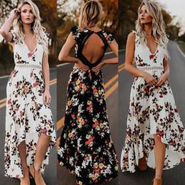 $enCountryForm.capitalKeyWord Australia - Fashion Brand Newest Womens Summer Boho Maxi Dress Clubwear Party Beach Holiday Sundress Flower Asymmetrical Casual Dresses