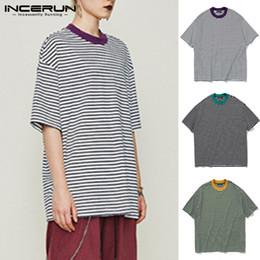 $enCountryForm.capitalKeyWord Australia - Trend Masculina Men T-Shirts Striped Casual Tee Shirt Short Sleeve Crew Neck Loose Fit Baggy Oversized 5XL Harajuku Men Clothes