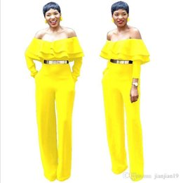 90ebf39090e 9144 European explosion models Europe and the United States hot sexy fashion  word collar tube top jumpsuit