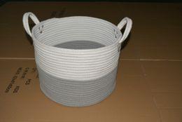 $enCountryForm.capitalKeyWord Australia - INS ECO-friendly home decoration Cotton plant rope Linen household organization for baby toys sundries housekeeping storage basket b