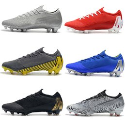 vapor football Canada - Mens New Low Ankle Football Boots XII Elite FG Kids Mercurial Vapors XII VII Elite FG Soccer Shoes Superfly 360 Neymar ACC Soccer Cleats