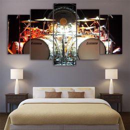 $enCountryForm.capitalKeyWord Australia - Music Trommeln Kit,5 Pieces Home Decor HD Printed Modern Art Painting on Canvas (Unframed Framed)