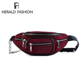 $enCountryForm.capitalKeyWord NZ - Cheap Waist Packs Herald Fashion Women Waist Bag Female 2018 Brand Belt Bag Money Phone Retro Fanny Pack Waistbag Scrub Quality Leather