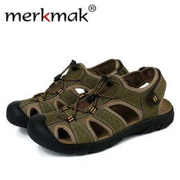 $enCountryForm.capitalKeyWord Australia - Merkmak Plus Big Size 47 Sandals Men Casual Comfort Genuine Leather Classics Summer Sandal Men Non-slip Outdoor Beach Flat Shoes #245995