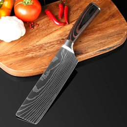 Chinese Cleavers NZ - New Design 7''Japanese Santoku Chef knife Stainless Steel Imitate Damascus Pattern Kitchen Knife Cleaver Filleting Knives