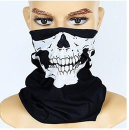 Skull half face paintball maSk online shopping - Cool Skull Bandana Bike Helmet Neck Face Mask Paintball Ski Sport Headband new fashion good quality low price Party Supplies