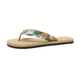 $enCountryForm.capitalKeyWord Australia - Women Espadrilles Slippers Female Flat Sandals Summer Beach Girls Espadrilles Flip Flops Holiday Antiskid Smart Style Sandals