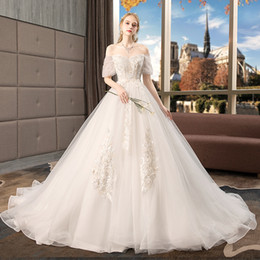9df8257a1d2 Big Brooches Wedding Dresses Australia - 2018 new bride towed princess dream  big size fat mm