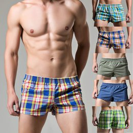$enCountryForm.capitalKeyWord Australia - Mens Woven Boxer Shorts Loose Fit Cotton Underwear With Elastic Waistband Shorts Loose men