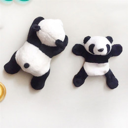 magnet plush UK - 2019 1Pc Cute Soft Plush Panda Fridge Magnet Refrigerator Sticker Gift Souvenir Random Decor Kitchen, Dining& Bar Dropship #0628