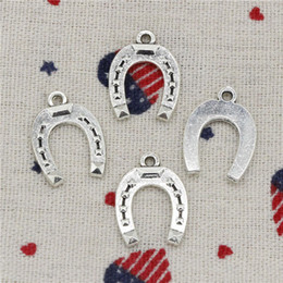 $enCountryForm.capitalKeyWord Australia - 179pcs Charms horseshoe lucky 21*16mm Pendant, Tibetan Silver Pendant,For DIY Necklace & Bracelets Jewelry Accessories