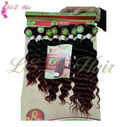 kanekalon weave Australia - 8pcs lot Brazilian Unprocessed Kinky Curly Hairpiece 8-14inch Ombre 1B 27 Ombre Hair Extensions Kinky Curly Weave Synthetic Kanekalon 8pcs L