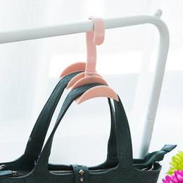 Handbag sHelf online shopping - 360 Degrees Rotated Hooks Plastic Handbag Clothes Ties Bag Holder Shelf Hanger Hanging Rack Storage Organizer Hooks