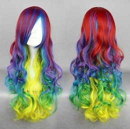 $enCountryForm.capitalKeyWord UK - WIG free shipping Great Quality Synthetic Hair Multi-color 70cm Long Curly