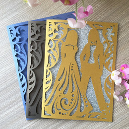 Wedding Groom Figures Australia - 50PCS Bride And Groom Sweet Wedding Invitation Card Honey Ceremony With Marriage Party Bridal Shower Carnival Party Decoration Supplies