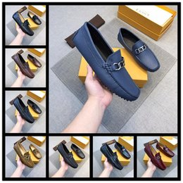 $enCountryForm.capitalKeyWord Australia - Cheap [Orignal Box] Luxurious Tops Mens Business Shoe Oxfords Work Lace Up 100% Cow Leather Casual Shoes Size 38-45