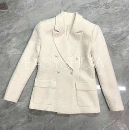 $enCountryForm.capitalKeyWord Australia - Y009-2019 spring new noble temperament silk lined with wool tweed pearl buttoned suit single-breasted jacket nine-point trouser
