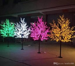 cheap lights for sales NZ - cheap sale Waterproof Artificial 1.8M Led Cherry Blossom Tree Lamp 864LEDs Christmas Tree Light for Home Festival Decoration