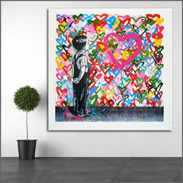 $enCountryForm.capitalKeyWord Australia - 1 Piece Large Size Printing Oil Painting With All My Love Colorful Wall Art Canvas Prints Pictures For Living Room No Frame